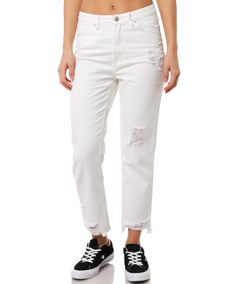 WHITE OUTLET WOMENS RES DENIM JEANS - RD-WPN18003WHT