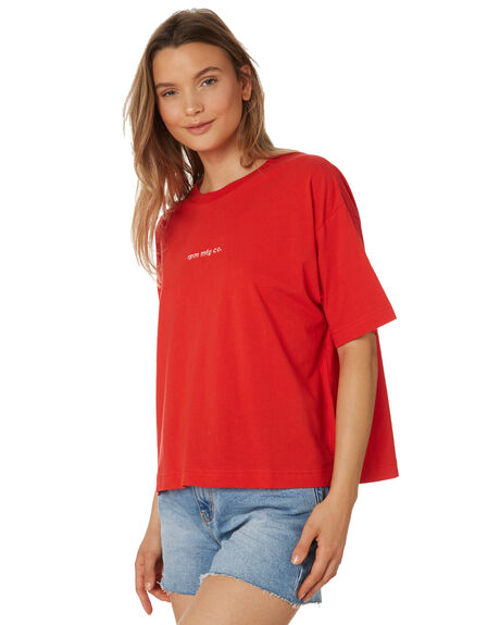 RED WOMENS CLOTHING RPM TEES - 9AWT03ARED