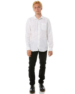 WHITE MENS CLOTHING ACADEMY BRAND SHIRTS - BA801WHT