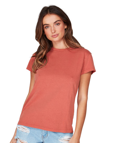 HENNA WOMENS CLOTHING BILLABONG TEES - BB-6581149-HEN