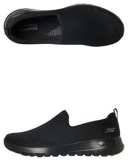 BLACK BLACK WOMENS FOOTWEAR SKECHERS FLATS - 15635BBK