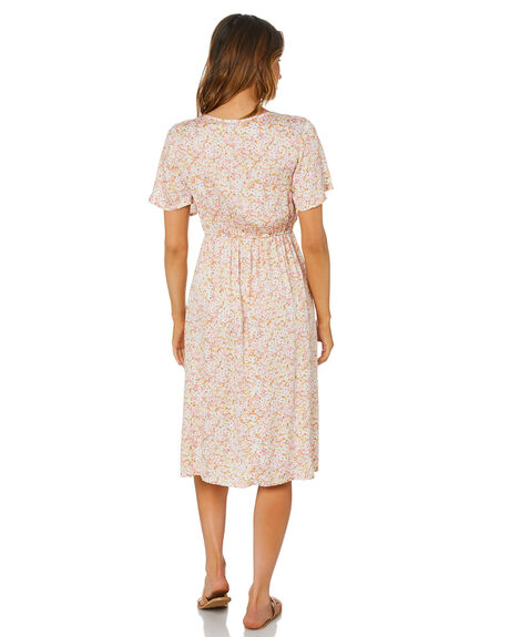 BLOSSOM FLORAL WOMENS CLOTHING THE HIDDEN WAY DRESSES - H8212449BLSFL
