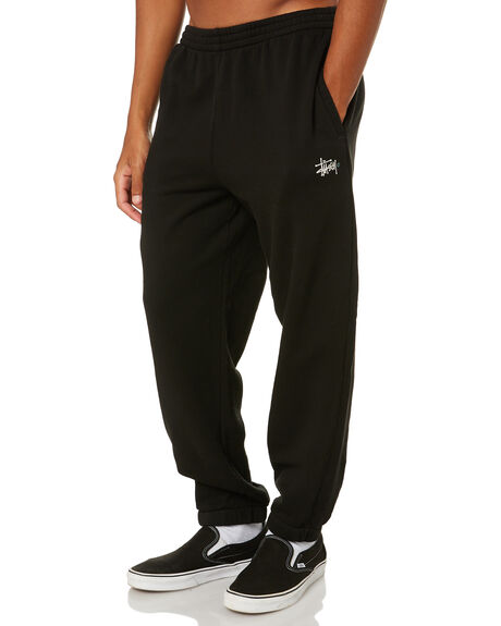 BLACK MENS CLOTHING STUSSY PANTS - ST002609BLK
