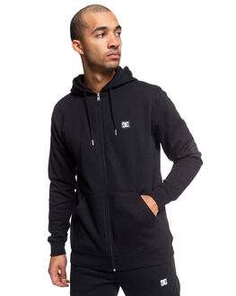 BLACK MENS CLOTHING DC SHOES JUMPERS - EDYFT03454-KVJ0