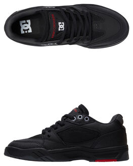 BLACK WHITE TRUE RED MENS FOOTWEAR DC SHOES SNEAKERS - ADYS100473-BWU