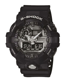 BLACK SILVER MENS ACCESSORIES G SHOCK WATCHES - GA710-1ABLKSV