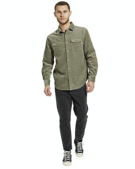SAGE GREEN MENS CLOTHING INSIGHT SHIRTS - 39052600026