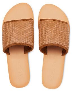 BROWN WOMENS FOOTWEAR KUSTOM SLIDES - KS-4692204-BRN