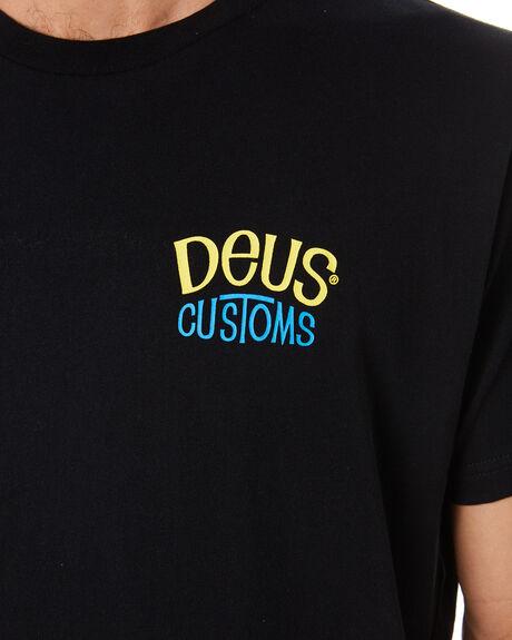 BLACK MENS CLOTHING DEUS EX MACHINA TEES - DMS91299ABLK