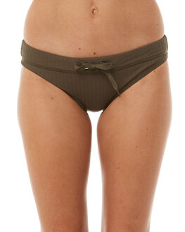 DARK OLIVE WOMENS SWIMWEAR SEAFOLLY BIKINI BOTTOMS - 40347-165DKOLV