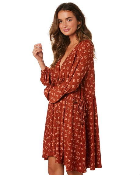 RUST WOMENS CLOTHING TIGERLILY DRESSES - T393408RUS