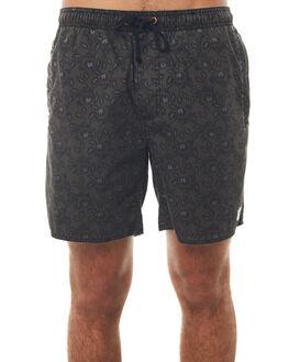 BLACK ROSE MENS CLOTHING AFENDS BOARDSHORTS - M181355BKROS