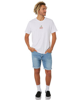 WHITE MENS CLOTHING MR SIMPLE TEES - M-01-51-03WHI