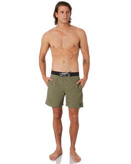 FIELD GREEN MENS CLOTHING GLOBE BOARDSHORTS - GB01628015FDGRN