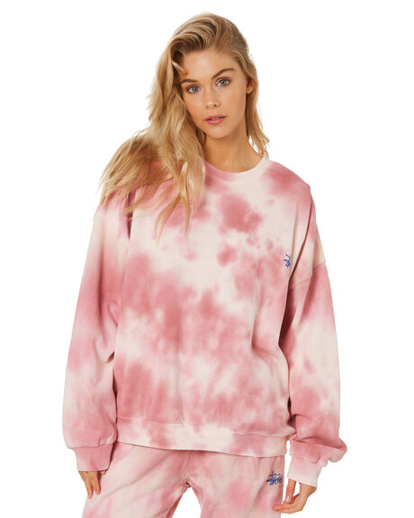 DUSTY PINK WOMENS CLOTHING STUSSY JUMPERS - ST1M0189DPNK