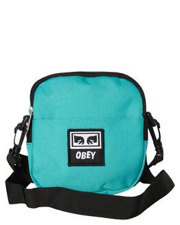 TEAL MENS ACCESSORIES OBEY BAGS + BACKPACKS - 100010094TEA