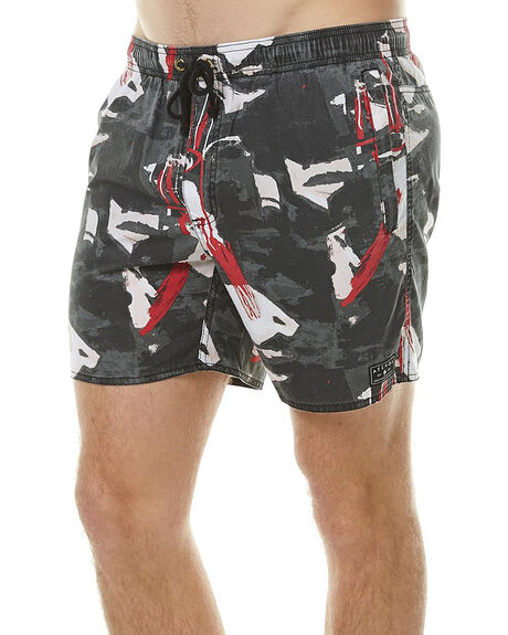 CROWFEATHER PRINT MENS CLOTHING AFENDS SHORTS - 09-04-114CROW