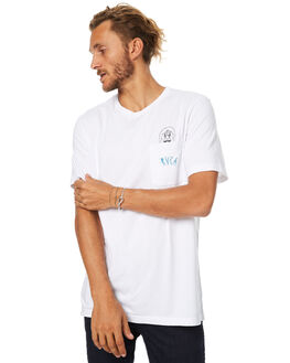 WHITE MENS CLOTHING RVCA TEES - R174041WHT