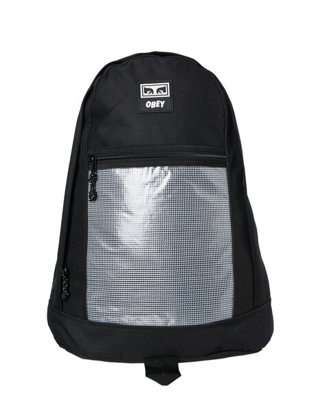 BLACK MENS ACCESSORIES OBEY BAGS + BACKPACKS - 100010114BLK