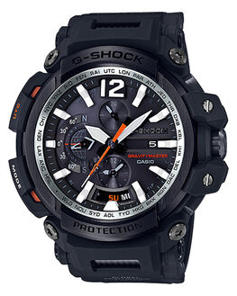 BLACK SILVER ORANGE MENS ACCESSORIES G SHOCK WATCHES - GPW2000-1ABLKOG