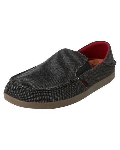 BLACK GREY MENS FOOTWEAR REEF SLIP ONS - A3YLBBEY