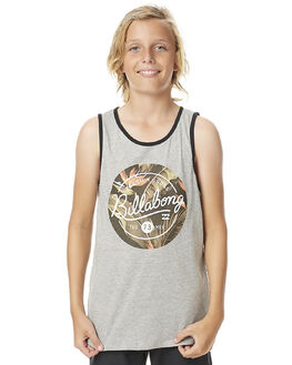 GREY MARLE KIDS BOYS BILLABONG SINGLETS - 8562502GRYM