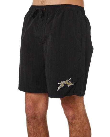 BLACK MENS CLOTHING RUSTY BOARDSHORTS - BSM1251BLK