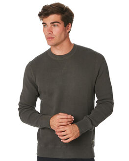 FOREST GREEN MENS CLOTHING DEUS EX MACHINA JUMPERS - DMW98878FRGRN