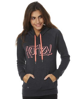 DARK HEATHER GREY WOMENS CLOTHING HURLEY JUMPERS - AGFLOR2PDHG