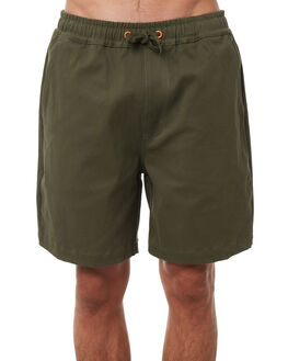 DARK GREEN MENS CLOTHING LOWER SHORTS - LO18Q3MSH05DGRN