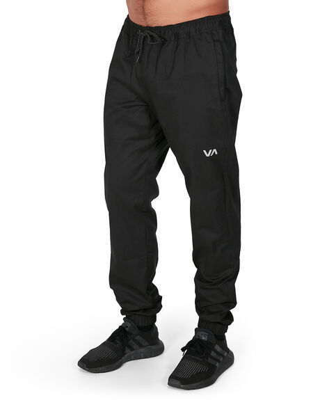 BLACK MENS CLOTHING RVCA PANTS - RV-R307276-BLK