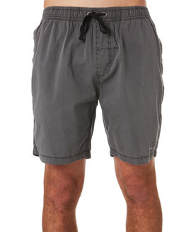 MERCH BLACK MENS CLOTHING THRILLS BOARDSHORTS - TS9-301MBMBLK