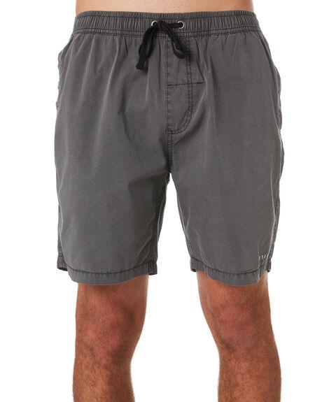 MERCH BLACK MENS CLOTHING THRILLS BOARDSHORTS - TS9-301MBMBLK