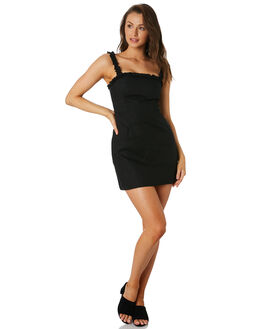 BLACK WOMENS CLOTHING LULU AND ROSE DRESSES - LU23800BLACK