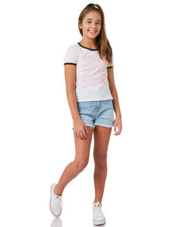 WHITE KIDS GIRLS VOLCOM TEES - B35318Y1WHT