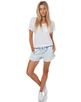 DENIM WOMENS CLOTHING SWELL SHORTS - S8172233BLU