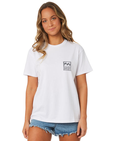 WHITE WOMENS CLOTHING BILLABONG TEES - 6581011WHT