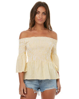 YELLOW WHT WOMENS CLOTHING MINKPINK FASHION TOPS - MP1707557YELL