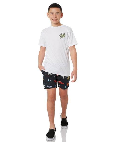 BLACK KIDS BOYS SANTA CRUZ BOARDSHORTS - SC-YBC0444BLK