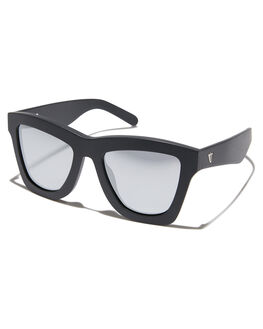 MATTE BLACK SILVER MIRROR MENS ACCESSORIES VALLEY SUNGLASSES - S0045MBLK
