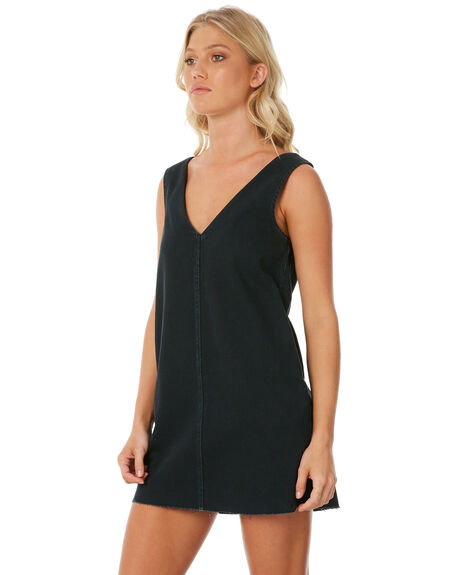 BLACK WOMENS CLOTHING RVCA DRESSES - R281751BLK