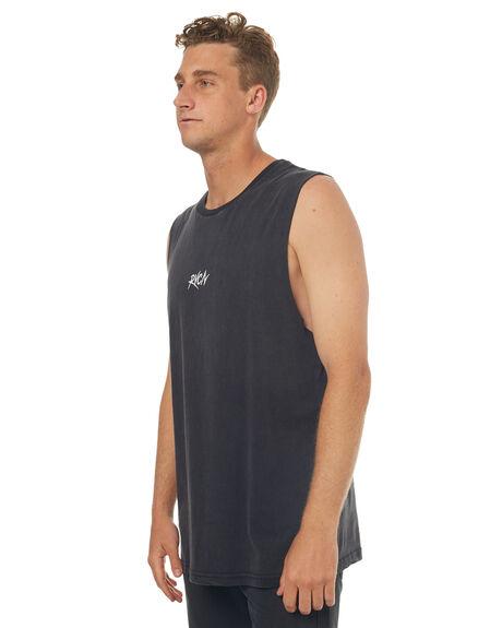 BLACK ACID MENS CLOTHING RVCA SINGLETS - R172002BACID