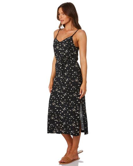 BLACK FLORAL WOMENS CLOTHING RHYTHM DRESSES - QTM19W-DR25BLK