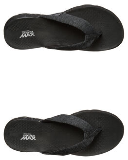 BLACK WOMENS FOOTWEAR SKECHERS THONGS - 14656BBK