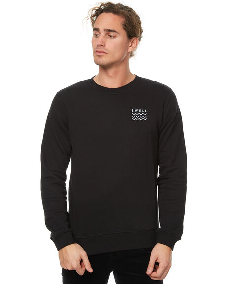 BLACK MENS CLOTHING SWELL JUMPERS - S5174442BLK