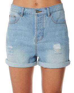 MID BLUE OUTLET WOMENS RIP CURL SHORTS - GWAEQ18962