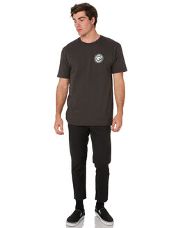 WASHED BLACK EMERALD MENS CLOTHING BRIXTON TEES - 06519WBKEM