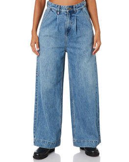 TRUCKER BLUE WOMENS CLOTHING THRILLS JEANS - WTDP-429ETTRKBL