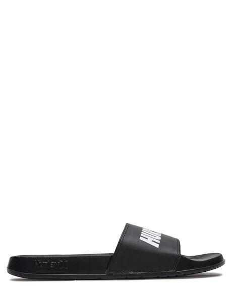 BLACK WHITE MENS FOOTWEAR HURLEY THONGS - HFS0012009