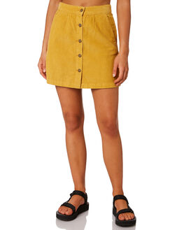 SUNLIGHT YELLOW WOMENS CLOTHING THRILLS SKIRTS - WTS9-304KYEL